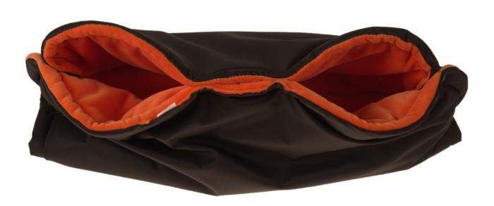 Rukávník na kočárek černo oranžový Kaarsgaren