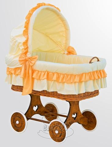 Proutěný koš na miminko s boudičkou Martin oranžový Scarlett