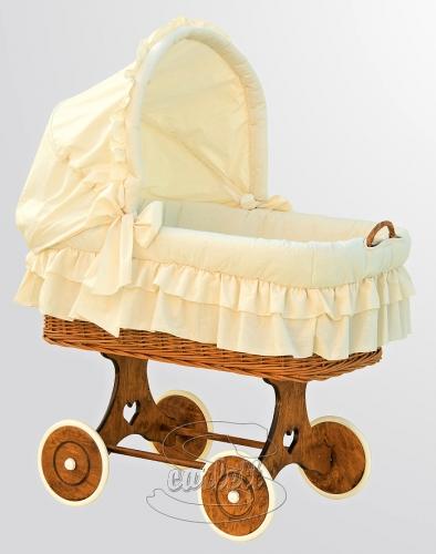 Proutěný koš na miminko s boudičkou Martin béžový Scarlett