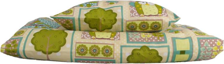 Fotografie Povlečení do dětské postýlky 130x90 sovy zelené